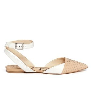 Sam Edelman Brina Ankle Strap Stud Flats Size 8